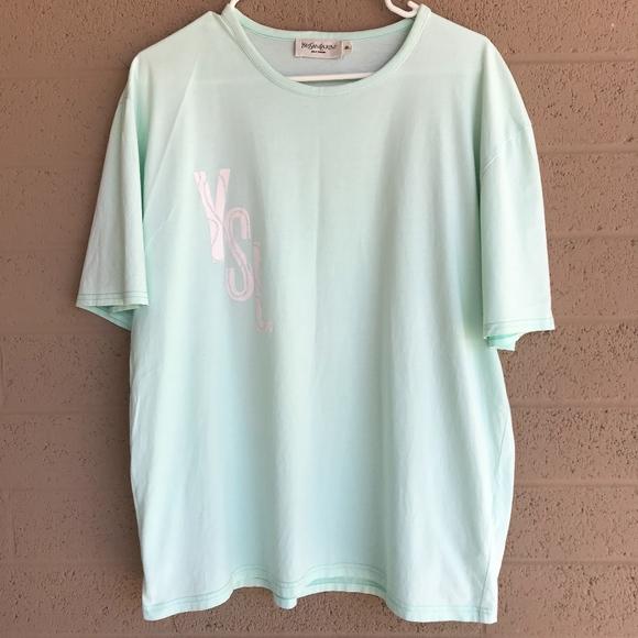 2257ec57 Yves Saint Laurent Shirts   Mens Tee Shirt Top Powder Blue   Poshmark